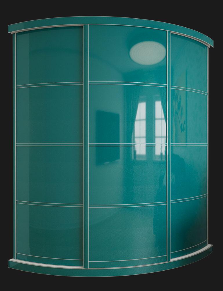 Выгнутый радиусный шкаф M-2 Бургунди