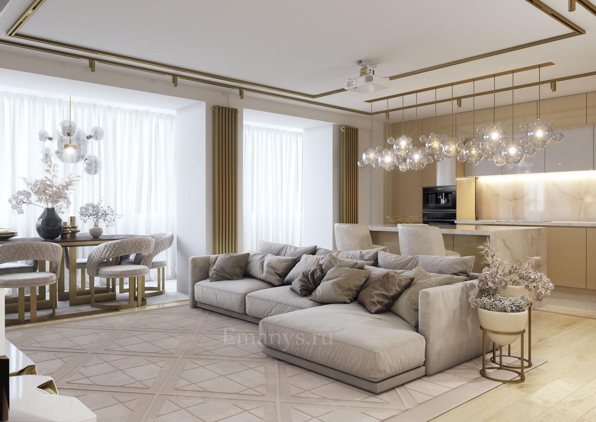 Дизайн интерьера гостинной Emanys