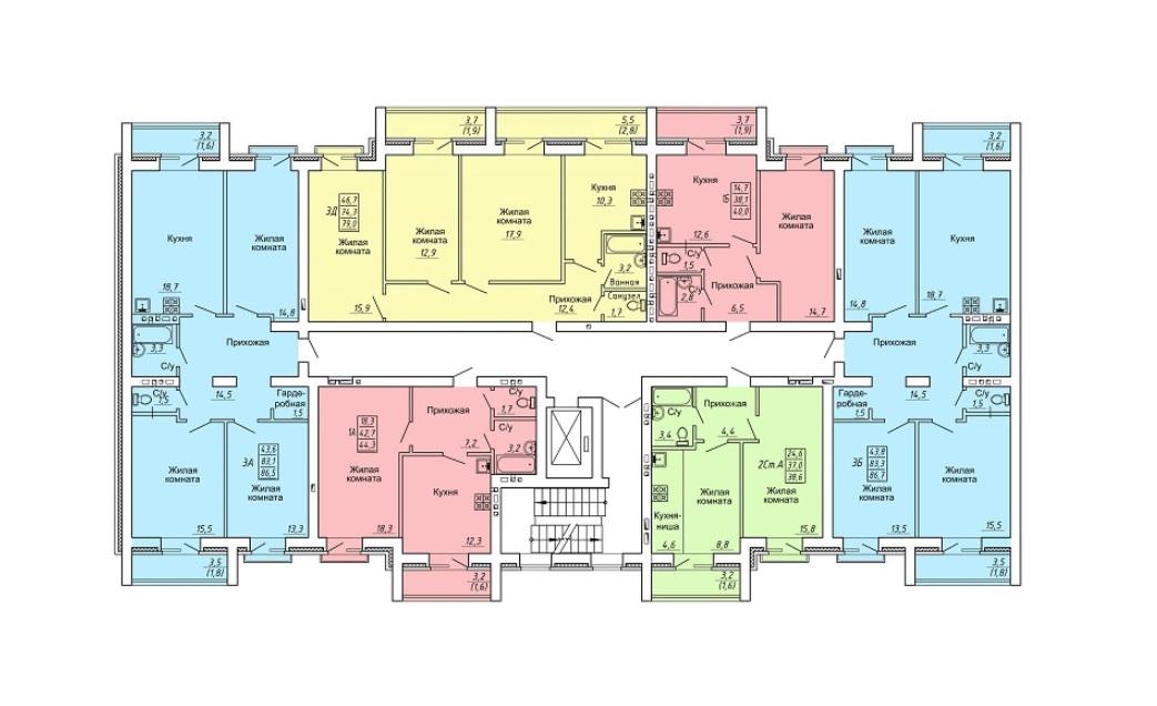 План этажа ЖК Свобода д.13 фото