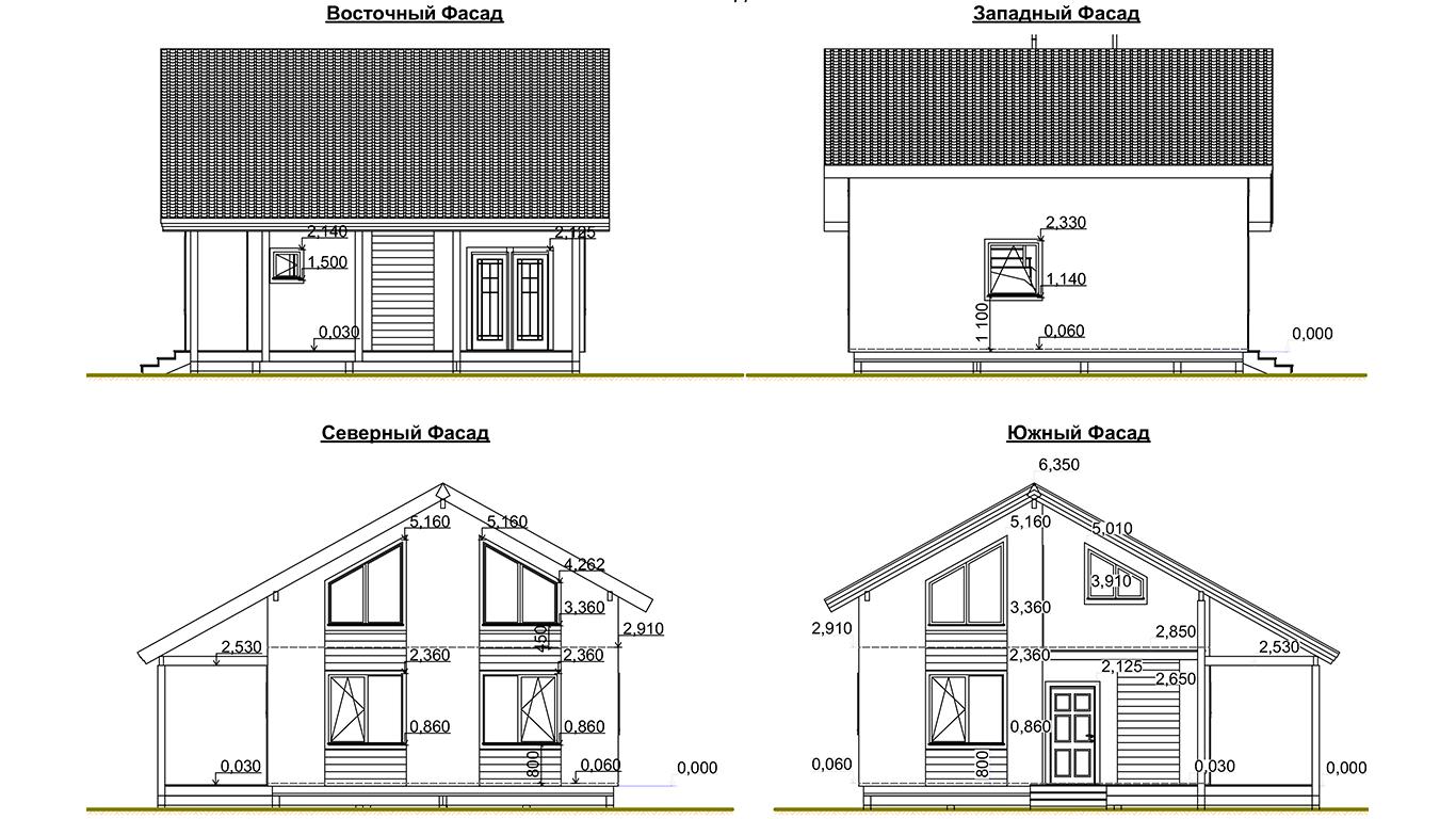 Фасады Koln 1.1 Rahmenhaus (Каркасный дом Кельн 1.1)