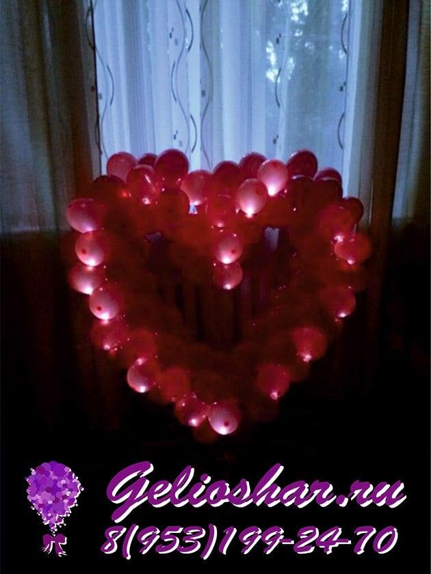 сердце со светодиодами