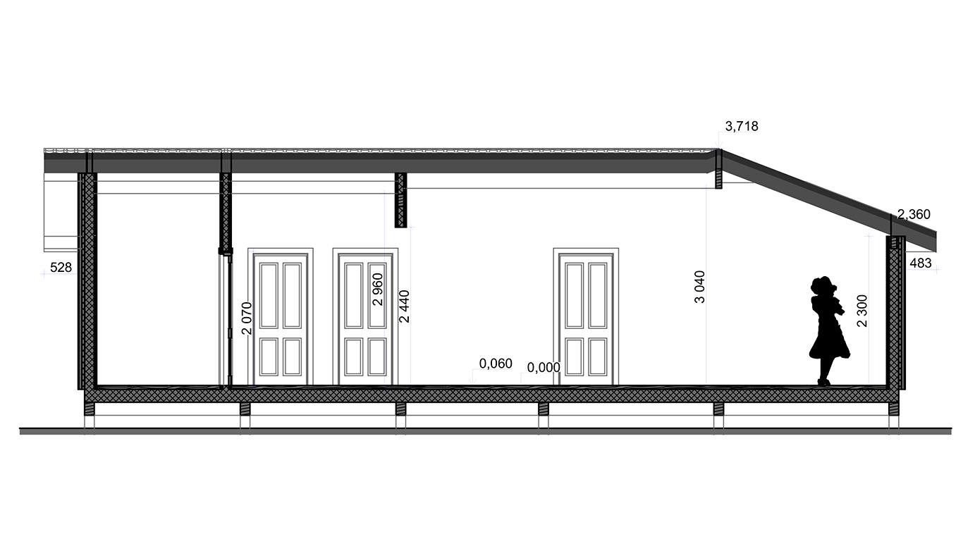 Разрез Dortmund Rahmenhaus 1.1 (Каркасный дом Дортмунд 1.1) 2