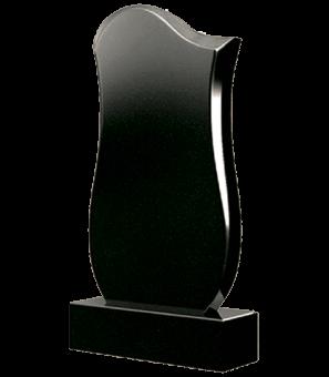 Фигурный гранитный памятник с мягкими линиями