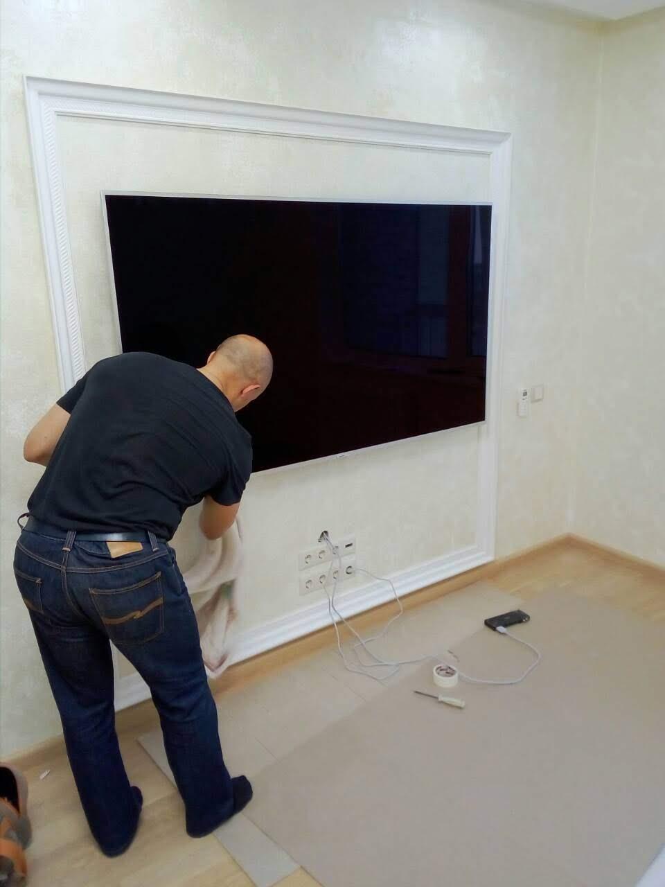 Установка телевизора на стену