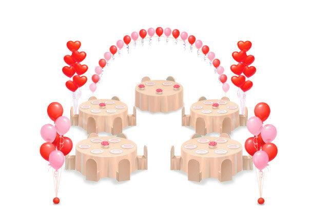 Оформление Свадьбы шарами №5