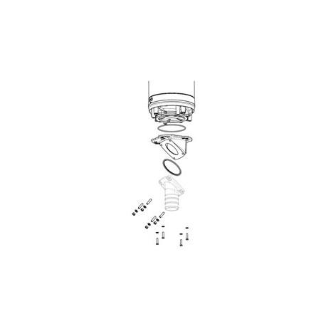 Изображение схемы монтажа каскадного соединения  для погружных насосов Grindex