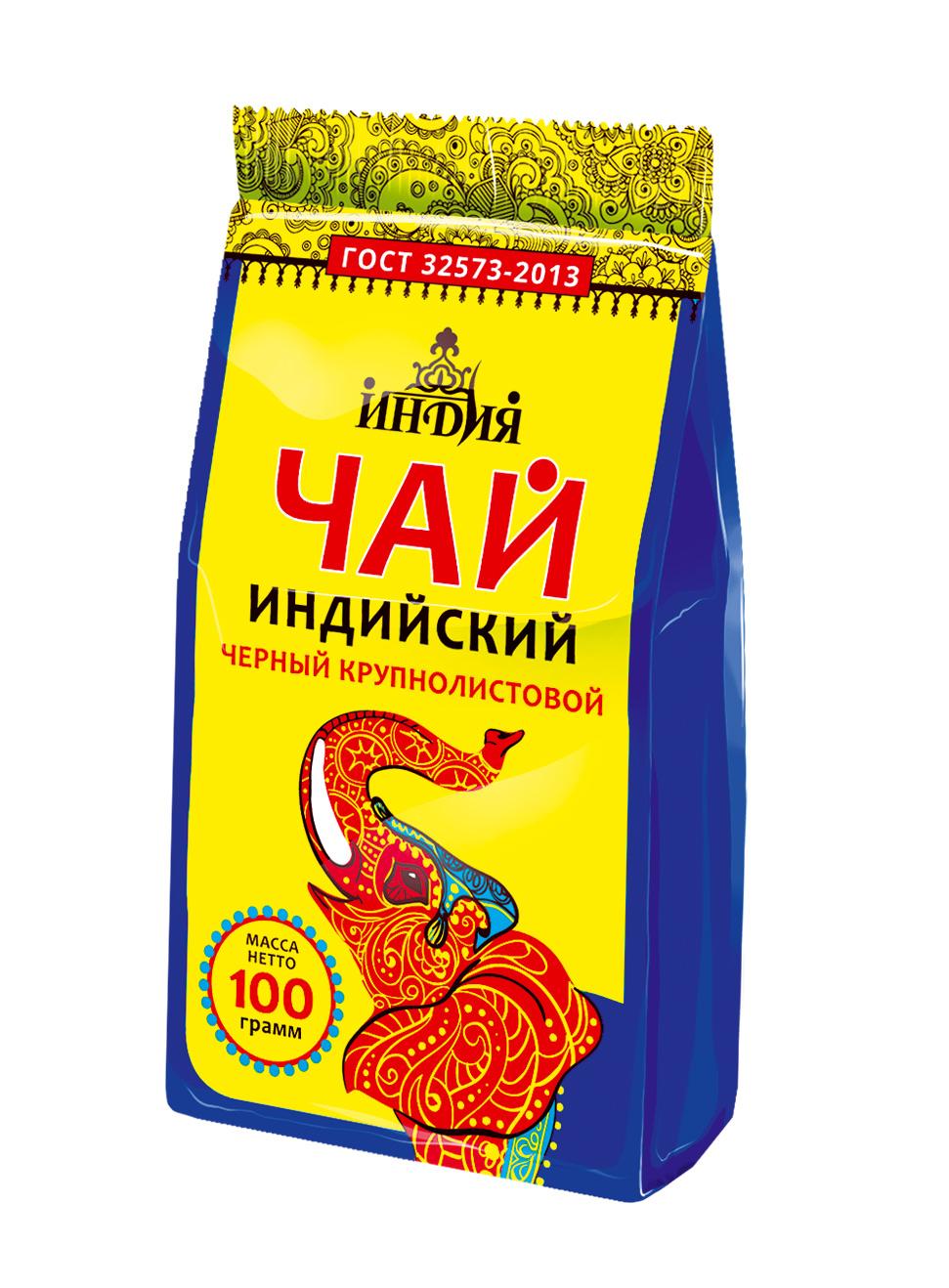 Картинка Чай черный крупнолистовой ИНДИЯ