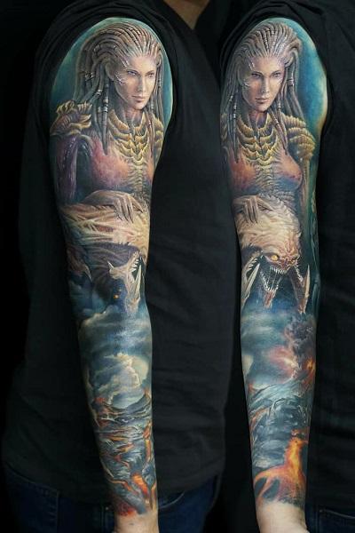 татуировка фотография эскиз женская на руке цветок