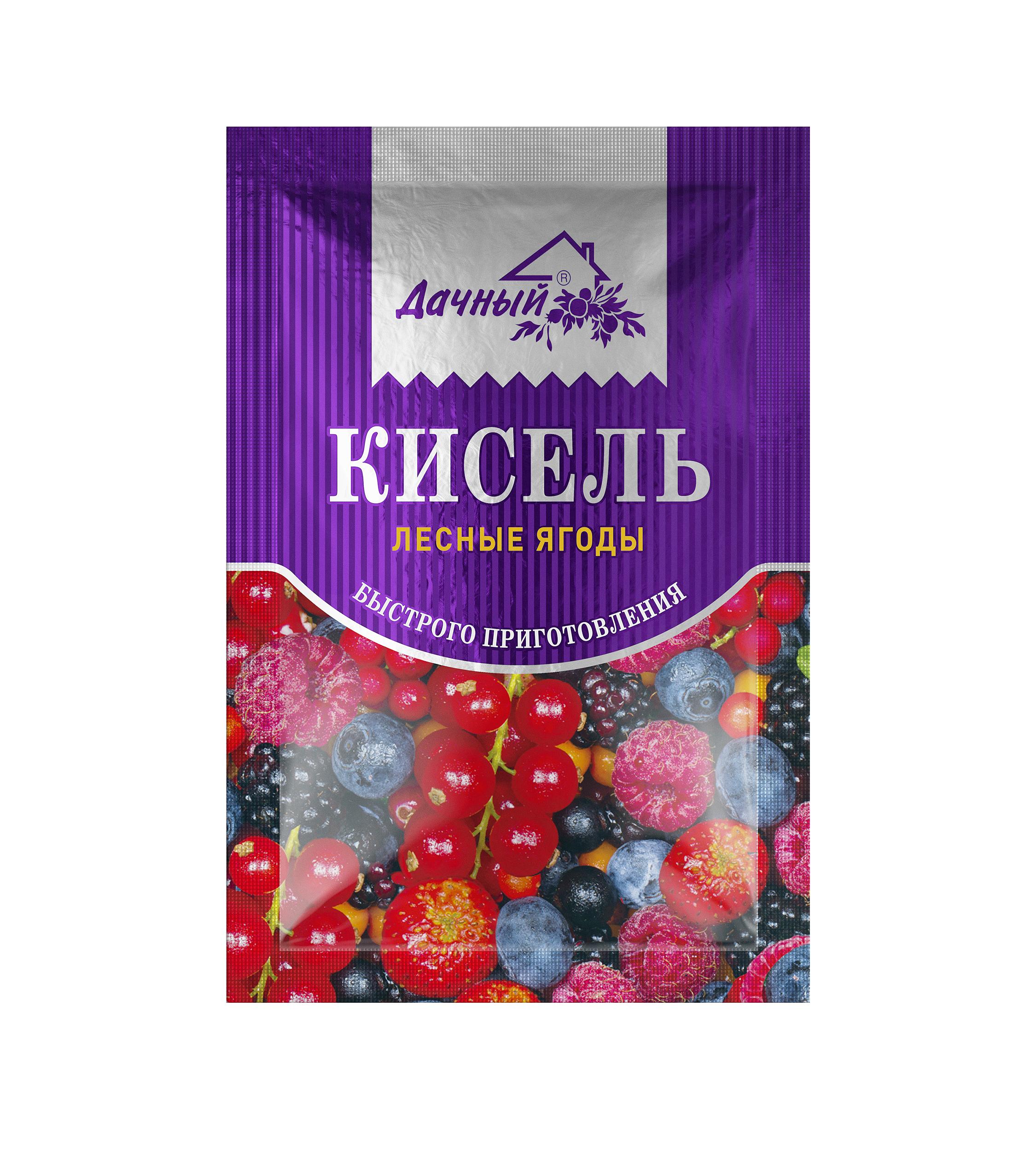 Картинка Кисель гранула ДАЧНЫЙ лесная ягода