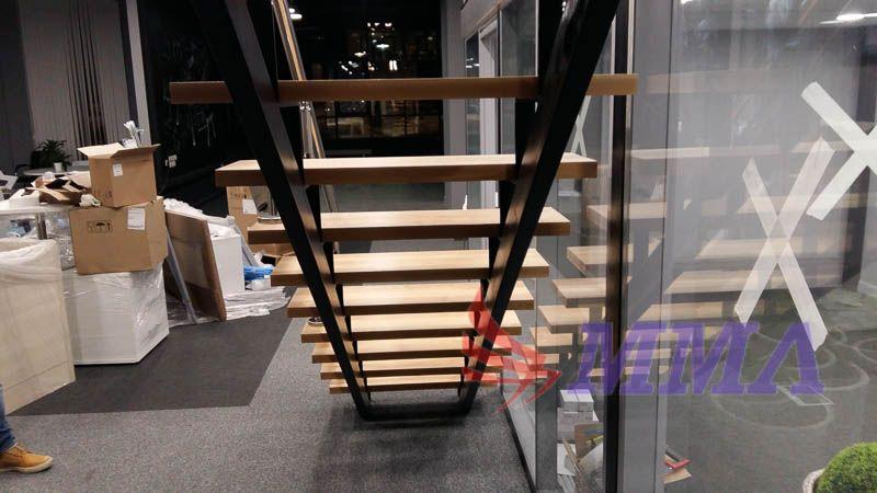 лестница, открытый тип, металлокаркас, каркас,