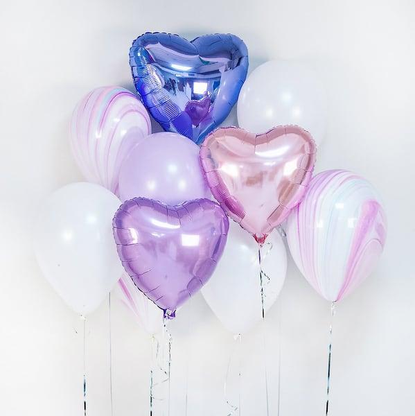 3 сердца  + 7 шаров