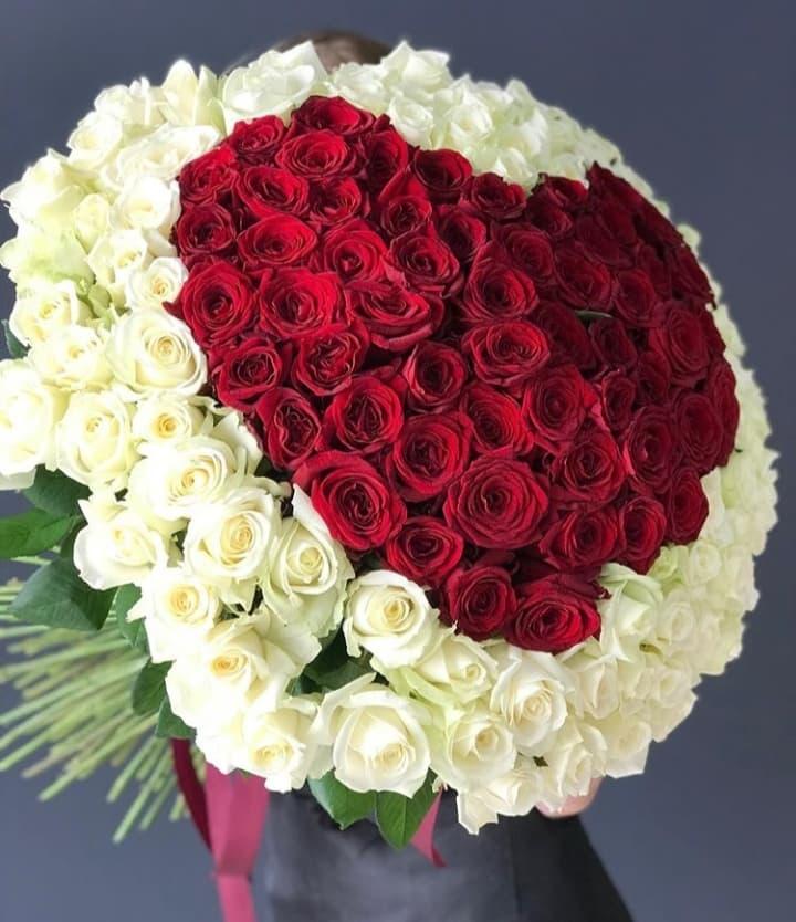 131 роза в форме сердца