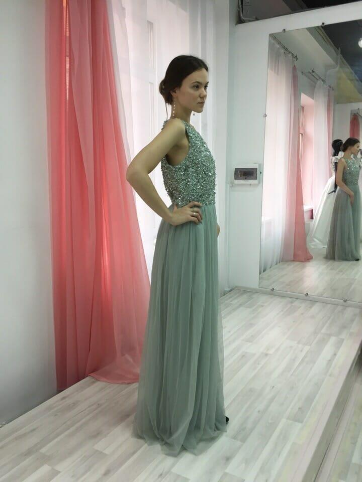 Платье зеленая линия
