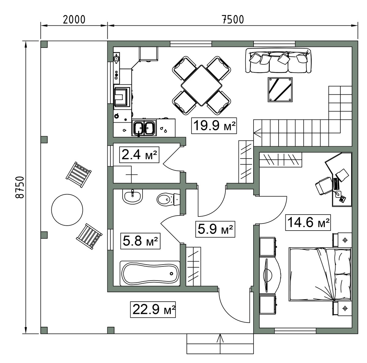 Планировка дома из сип панелей