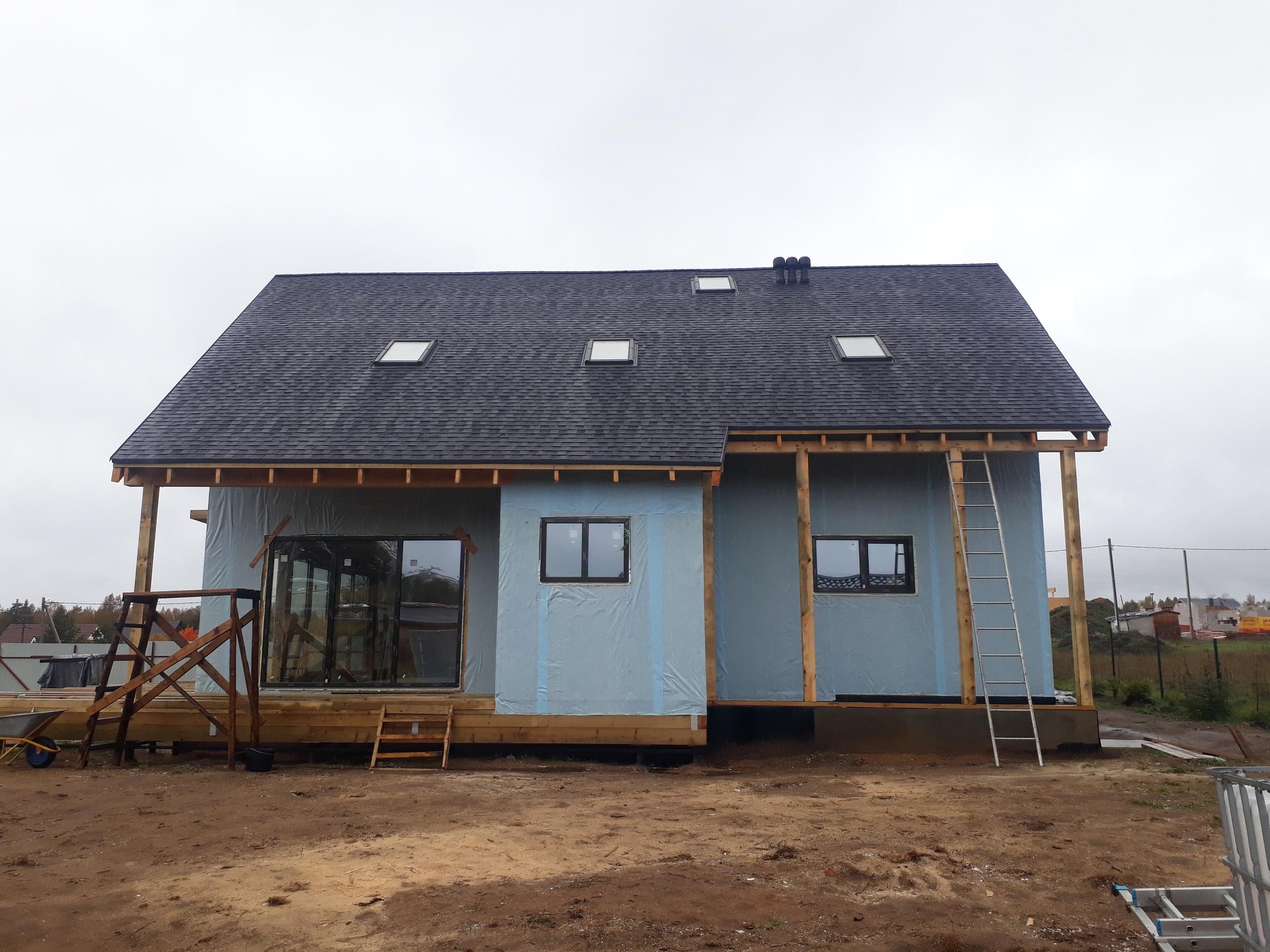 фото дома из сип панелей №4 терра выборгское