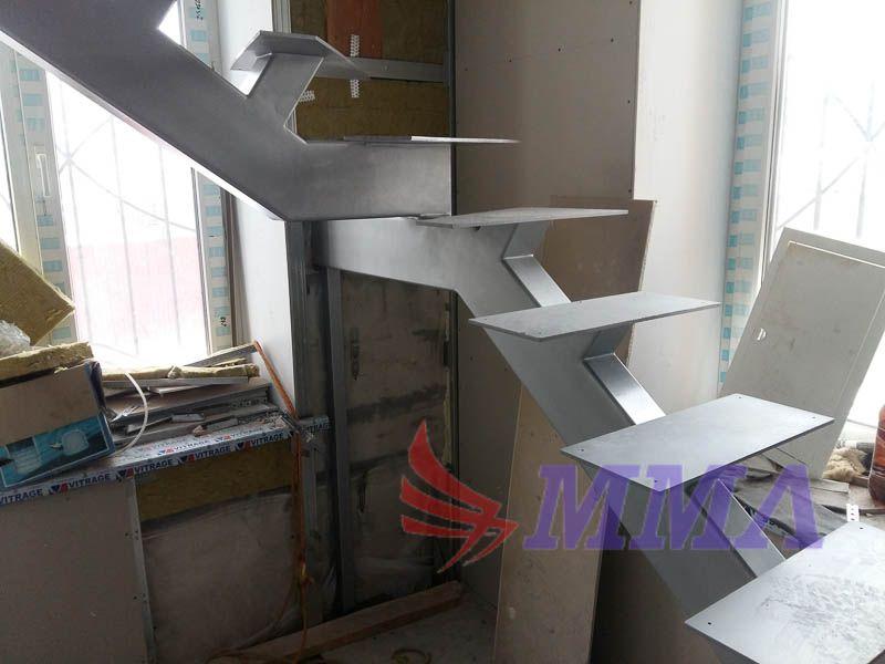 лестница, монокосоур, металлокаркас, каркас,