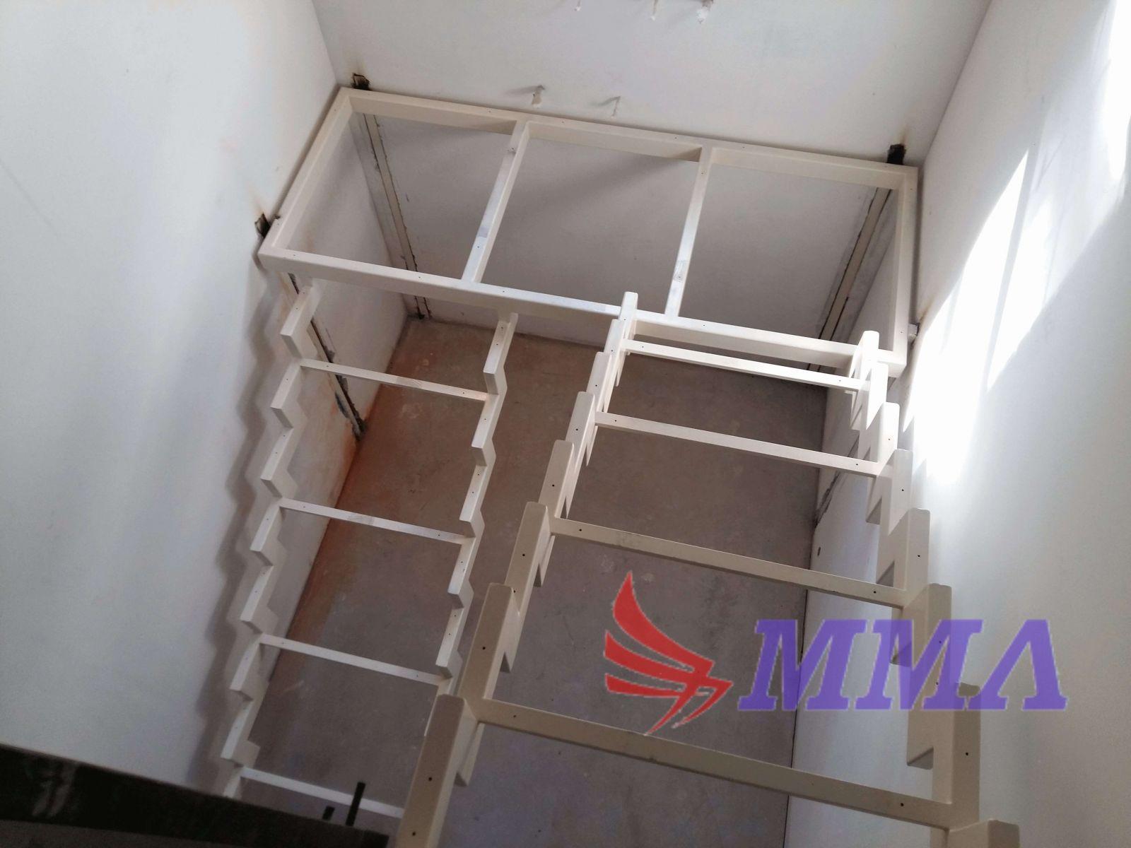открытый тип, металлокаркас, лестница, каркас,