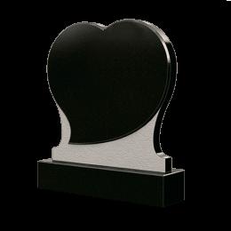 Памятник из гранита в форме сердца