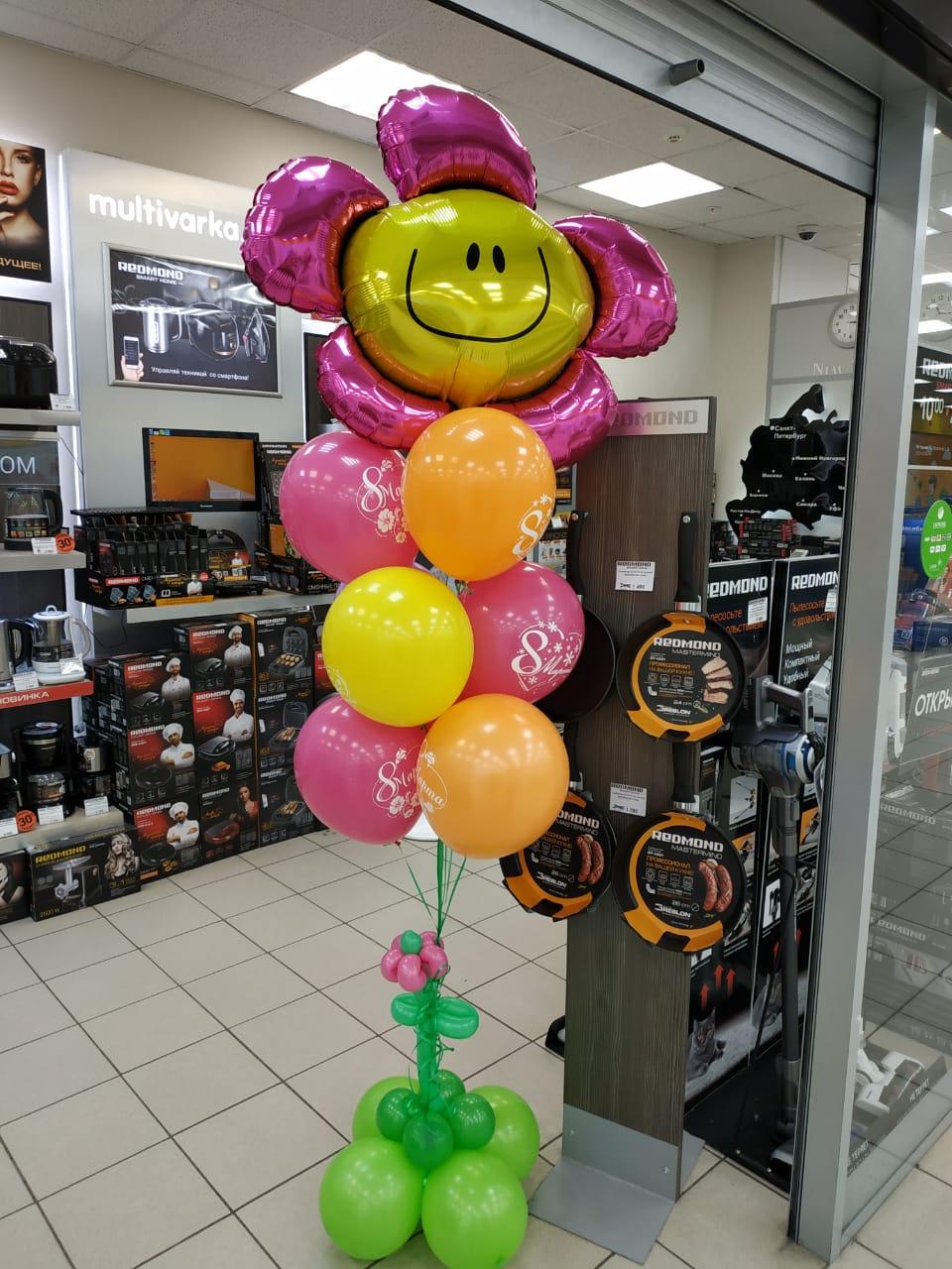 Букет шаров на 8 марта в магазин