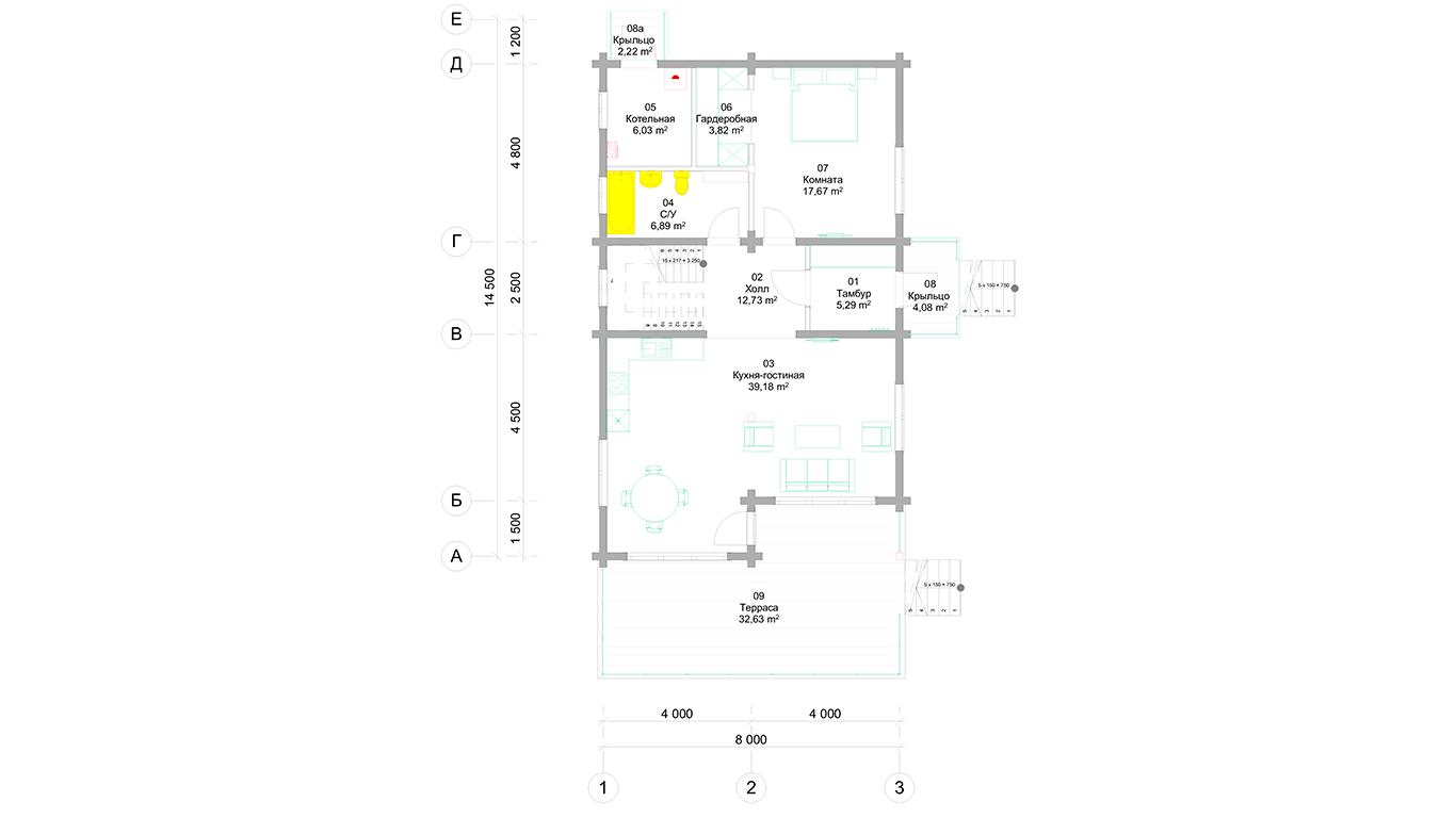 План первого этажа Trier (Дом Трир)