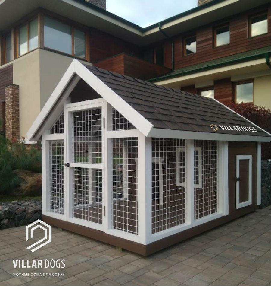 Теплая будка-вольер для собаки   Фото   VillarDogs