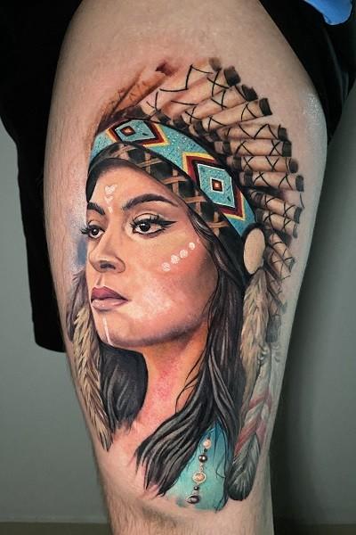 Татуировка цветной реализм в Новосибирске