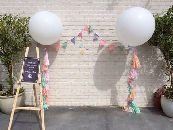 большие шар на свадьбу