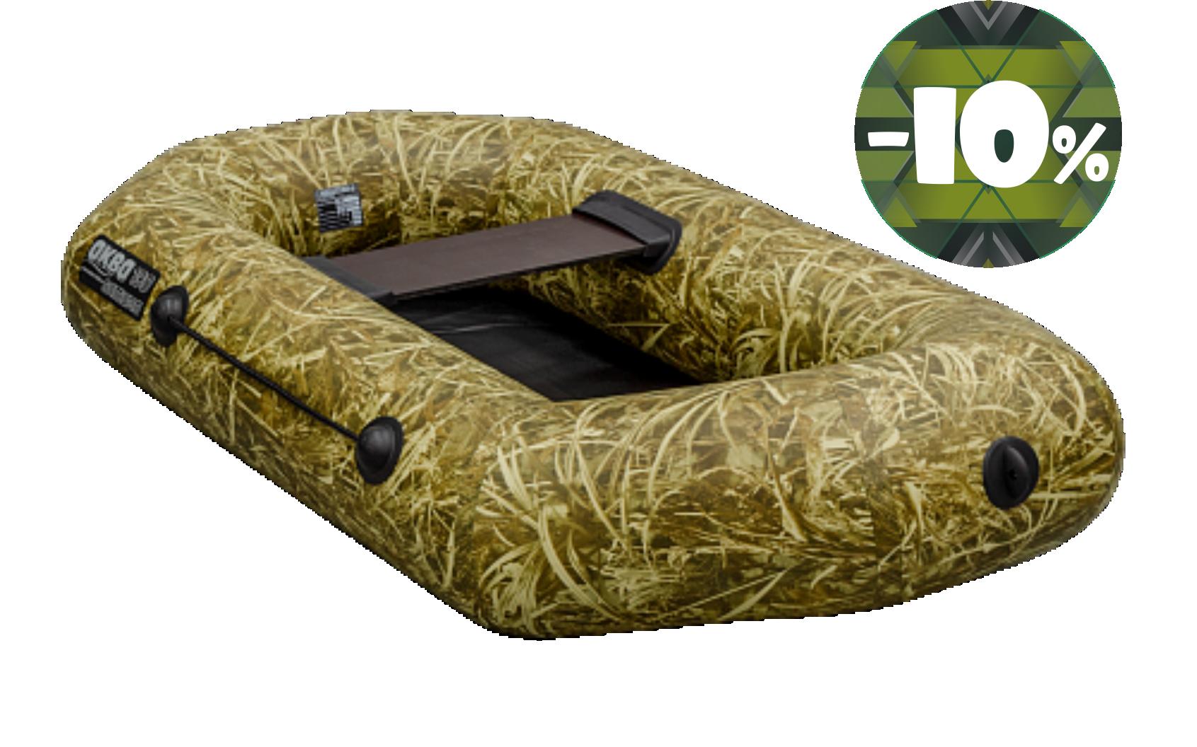 Лодка АКВА ОПТИМА-190 камуфляж светлый камыш