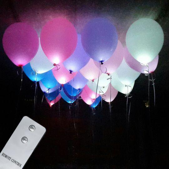 Гелиевые шары со  светодиодами на пульте