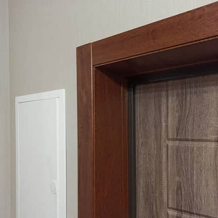Пример обшивки дверного откоса