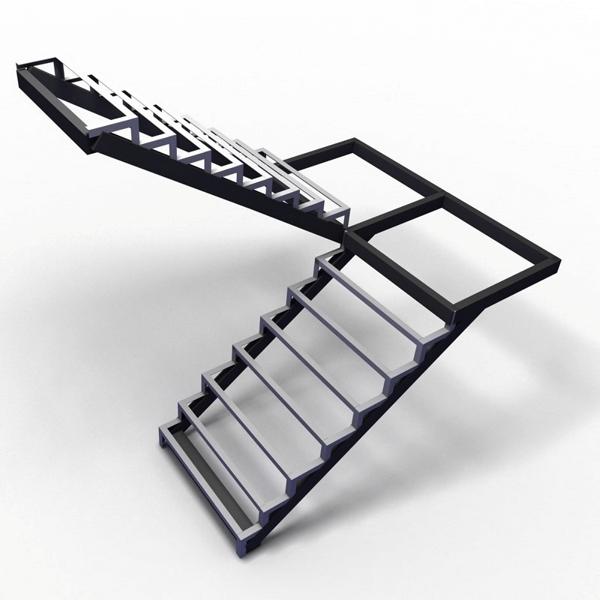 Каркас лестницы из швеллера