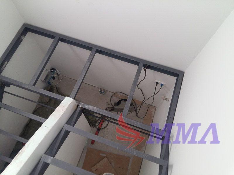 лестница, площадка, металл, швеллер, уголок