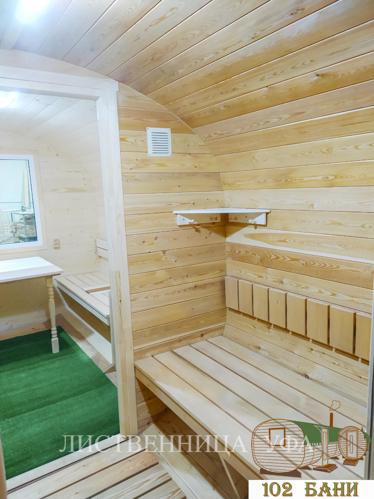 баня из кедра и лиственницы
