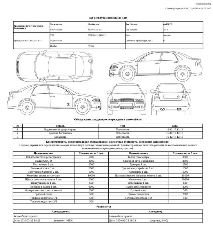 Программа печати и учета путевых листов