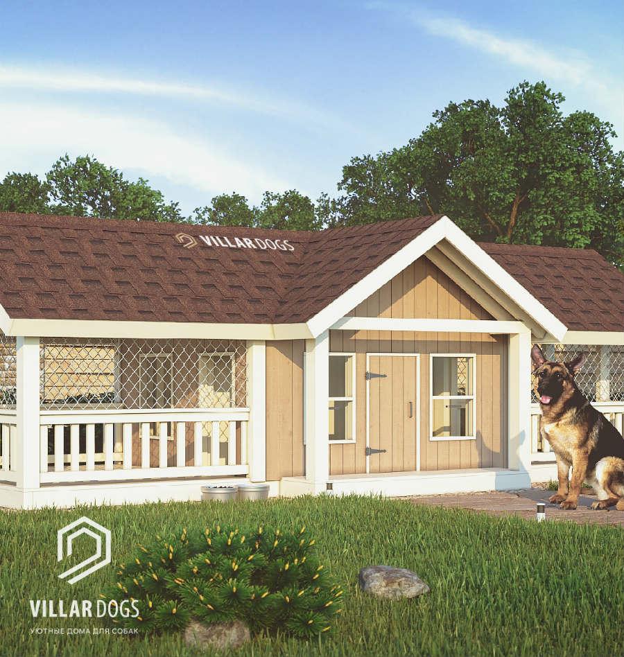 Вольер для крупной собаки с хозблоком   Фото   VillarDogs