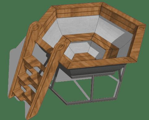 Банный чан для 4х в базовой комплектации