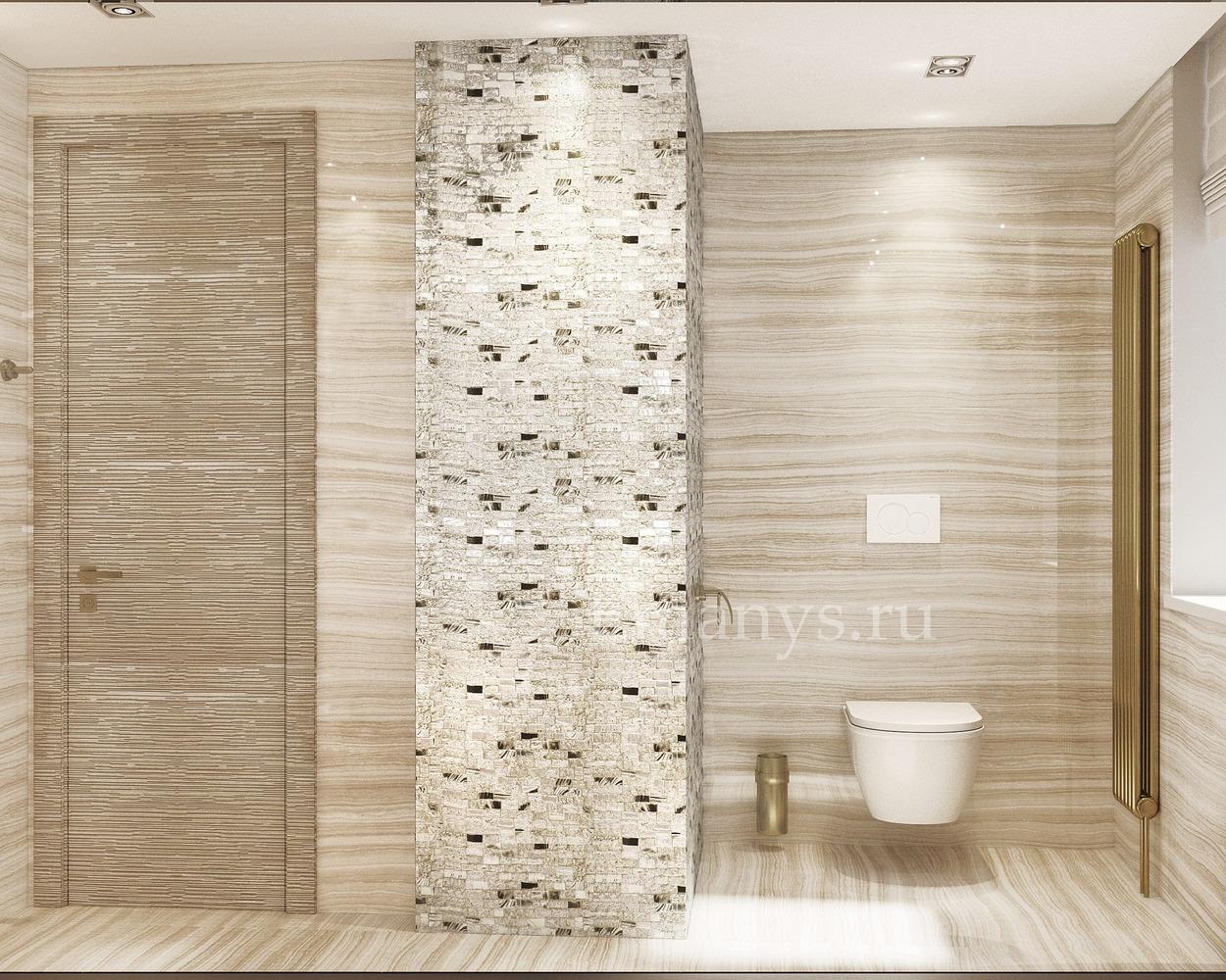 Дизайн интерьера туалет
