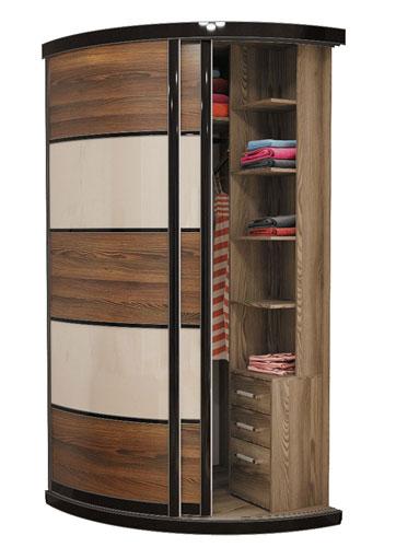 Выгнутый радиусный шкаф M-1 цена