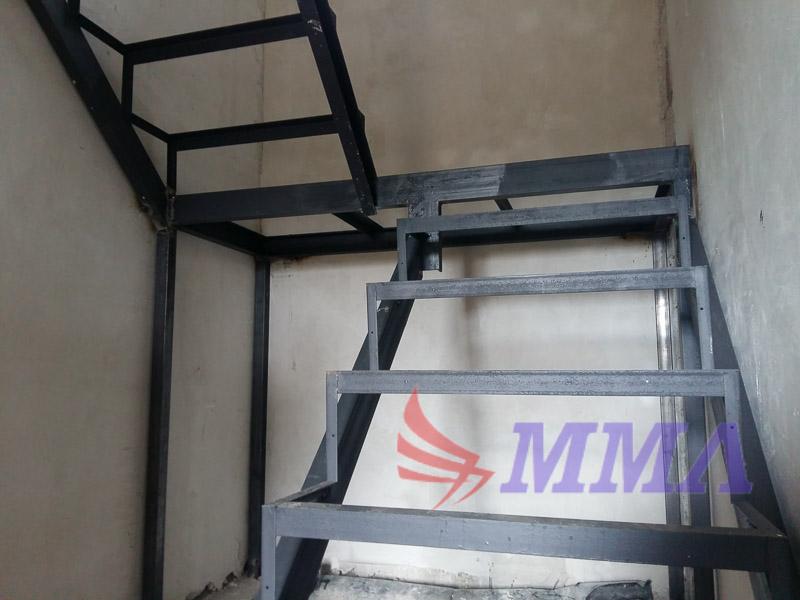 закрытый тип, металлокаркас, лестница, каркас