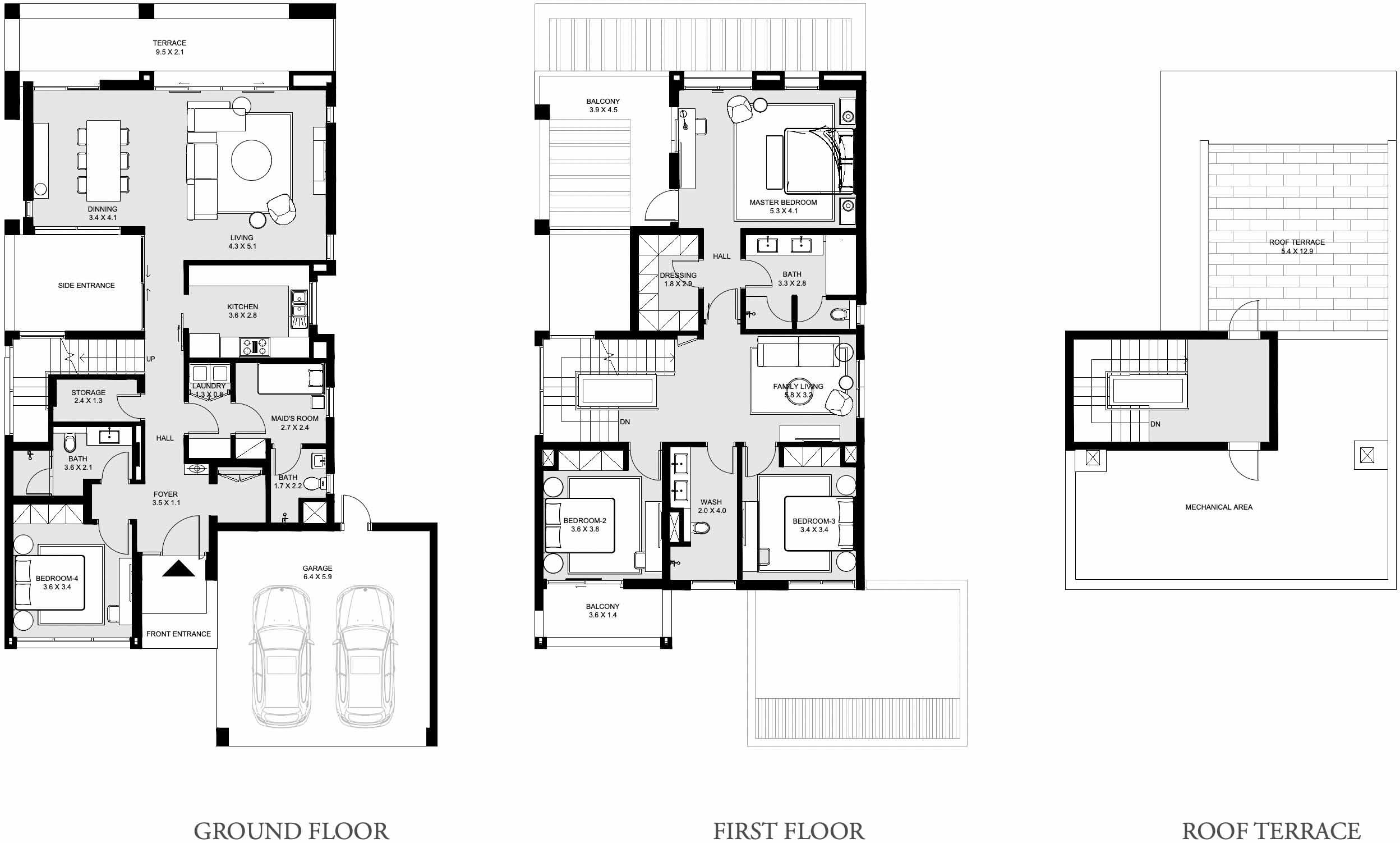 Emaar Caya Villas Floor Plans – Arabian Ranches III
