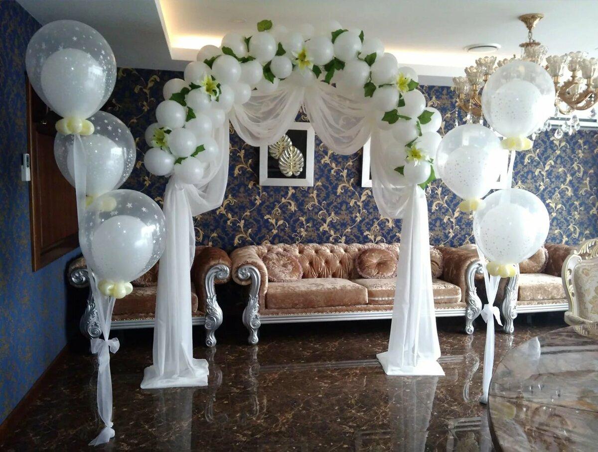 Картинки украшение шарами на свадьбу