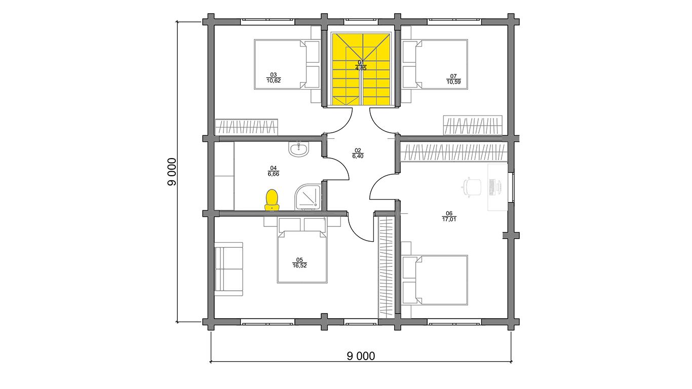 План второго этажа Kassel (Дом Кассель)