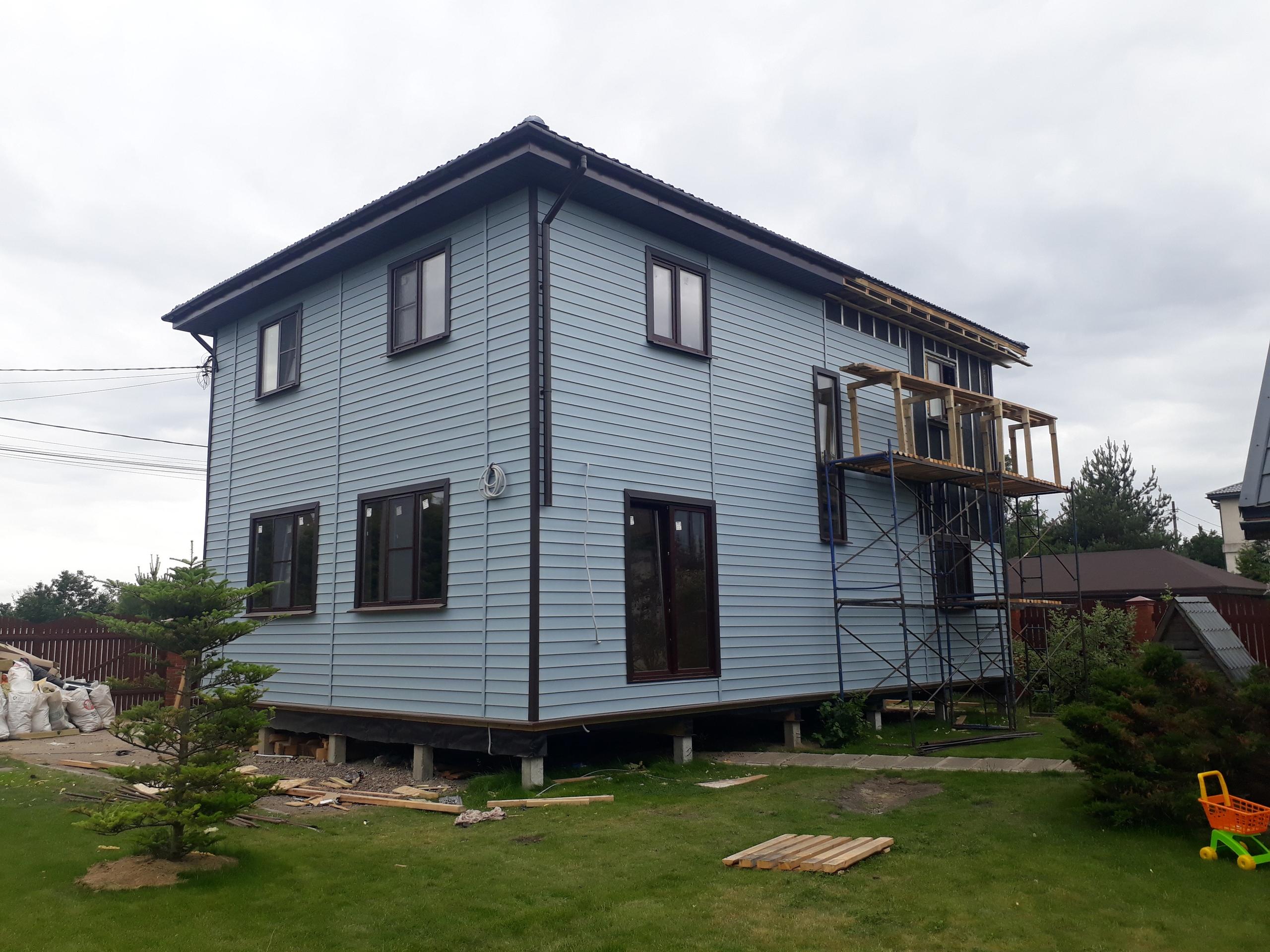 фото дома из сип панелей №1 порошкино