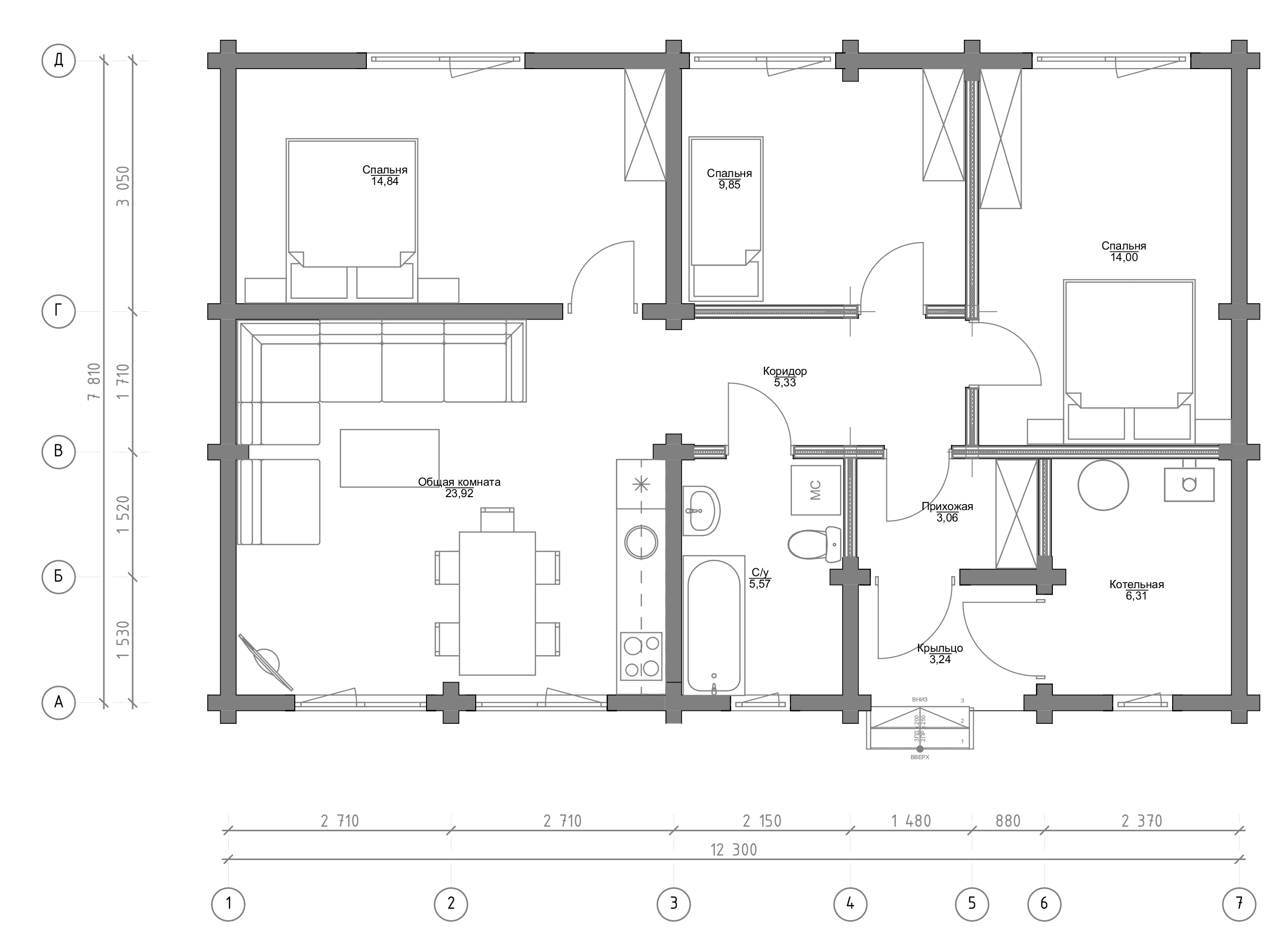 План первого этажа Dortmund 1.0 (Дом Дортмунд)