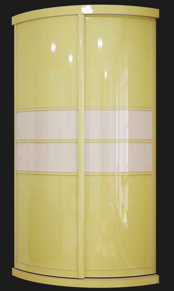 Бежевый радиуВыгнутый радиусный шкаф M-3 пастельный зеленыйсный шкаф
