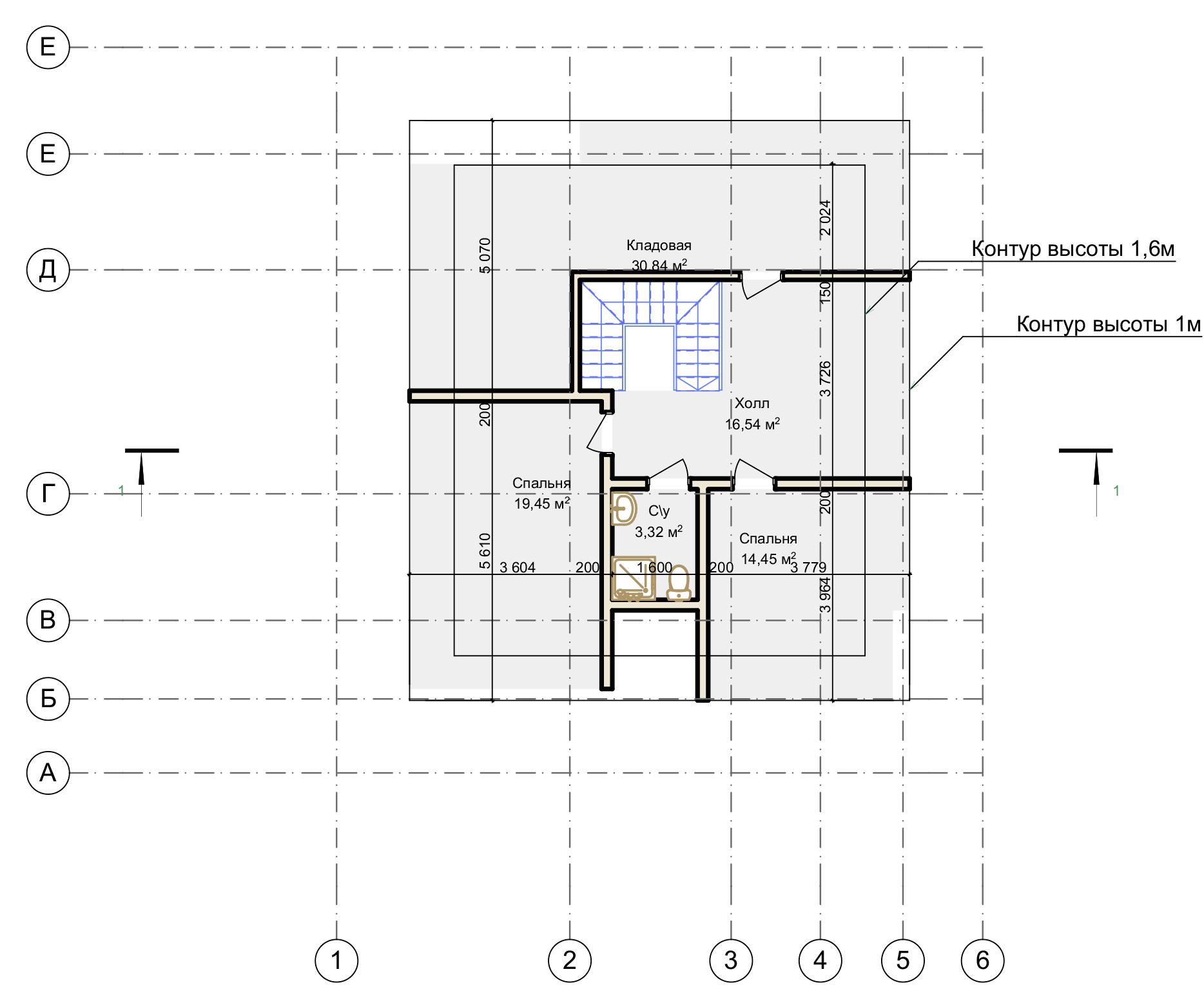 План мансардного этажа Langen (Дом Ланген)