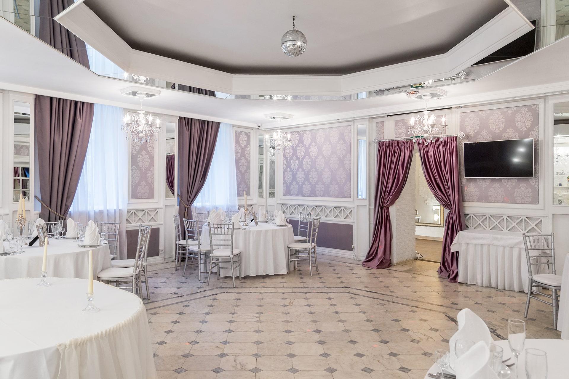 Банкетный зал - ресторан для свадьбы на 20 человек СПб