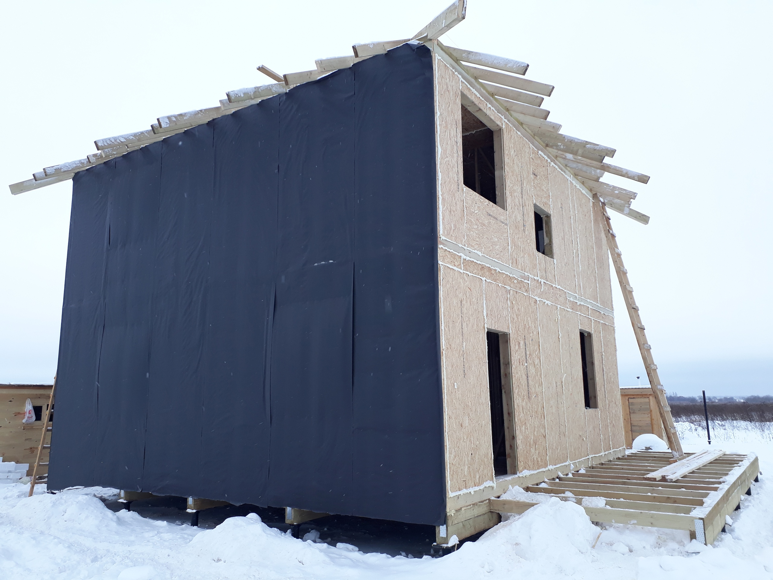 фото дома из сип панелей №1 павловский посад