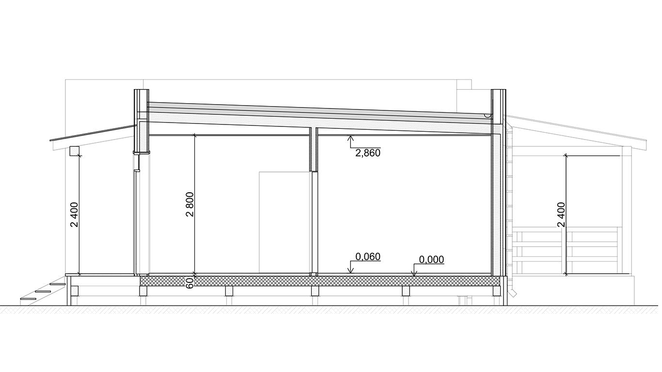 Разрез Plessa Rahmenhaus (Каркасный дом Пресса)