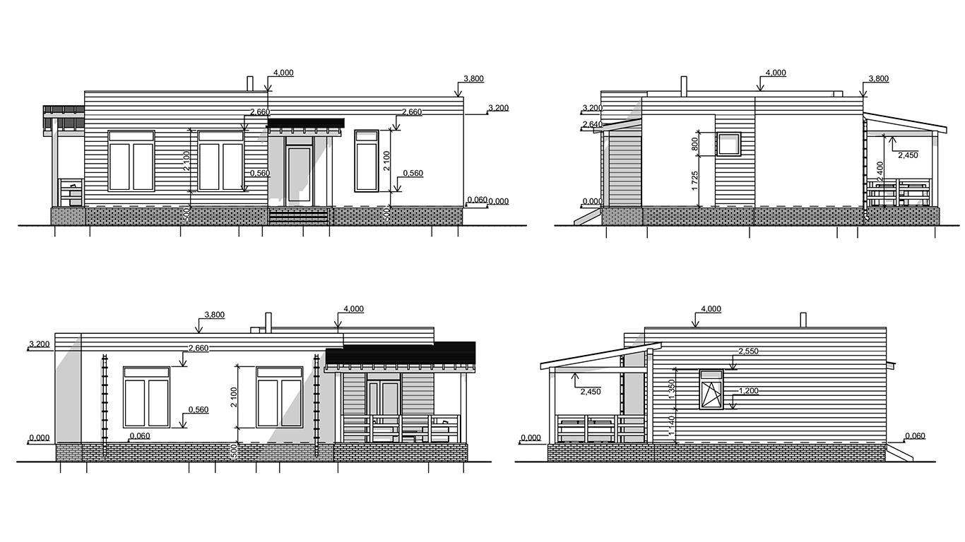 Фасады Plessa Rahmenhaus (Каркасный дом Пресса)